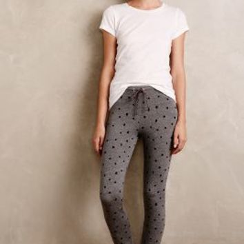 Sundry Dotted Lounge Leggings in Grey Motif Size: