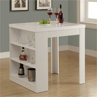 "White Hollow-Core 32""X 36"" Counter Height Table - Monarch Specialty I-1345"