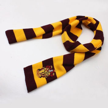Harry Potter Gryffindor House LOGO Knit Wool Scarf Wrap Cosplay Costume [7789113607]