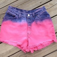 High Waisted Pink Levi's Shorts Size 13 by DenimAndStuds on Etsy