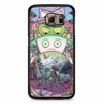 Rick And Morty Wallpaper 8 Samsung Galaxy S6 Edge Case