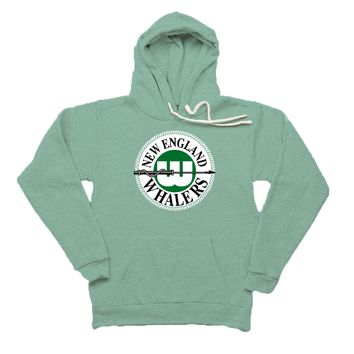 Retro New England Whalers Tri Blend Unisex Pullover Hoodie