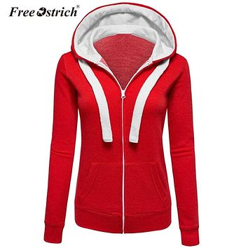 Free Ostrich Hoodies Sweatshirt Women Winter Warm Hoodies Pocket Zipper Long Sleeve Plus Size Women Clothes Dropshipping De26