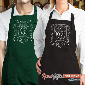 80th Birthday, 1935 Birthday, Full Length Apron, 80th Birthday Idea, 80th Birthday Present, 80th Birthday Gift,  For The Lucky 80 Year Old!
