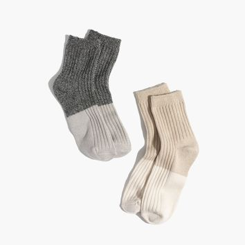 Two-Pack Colorblock Ankle Socks : shopmadewell socks & tights | Madewell