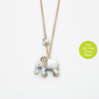 Elephant Necklace | Ann Taylor