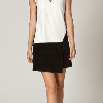 Black & White Patchwork Shift Dress