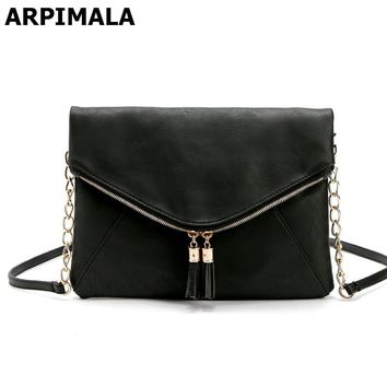 ARPIMALA 2017 Luxury Designer Women Handbags PU Leather Chain Evening Bags Casual Ladies Hand Bags Female Charm Envelope Clutch