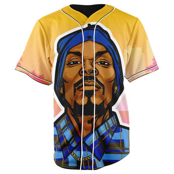 Snoop Dogg Button Up Baseball Jersey
