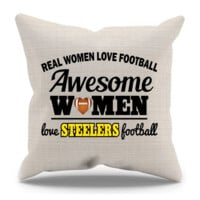 Awesome Women Love Steelers Football Pillow Case