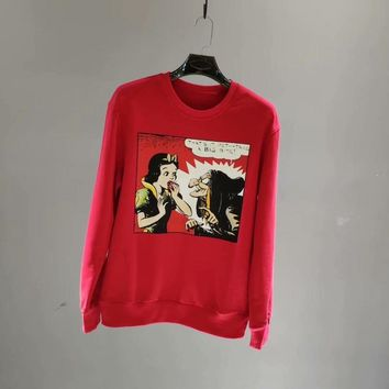 Authentic Gucci18 early autumn when new Snow White series set head men and women of the same type of sweater 003