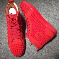 Cl Christian Louboutin Louis Spikes Style #1839 Sneakers Fashion Shoes - Sale