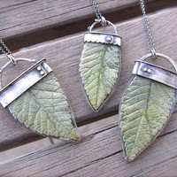 CUSTOM Real Leaf in Resin Necklace