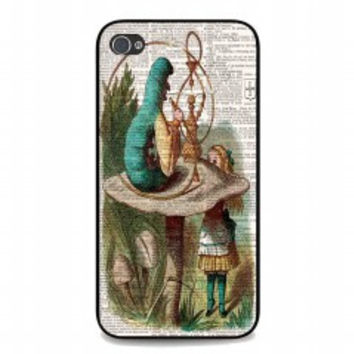ALICE IN WONDERLAND Hookah Caterpillar for iphone 4 and 4s case