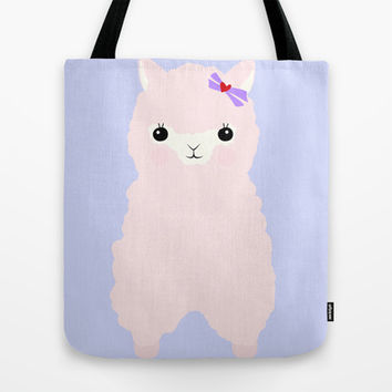 Alpaca in Love V 2 Tote Bag by Impossible Girl