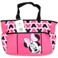 Minnie Pink and Black Tote Diaper Bag