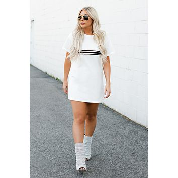 Eleanor T-Shirt Dress (White)