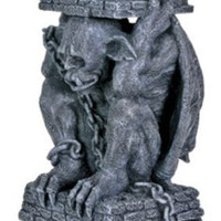 Dante Light Keeper Resin Gargoyle Statue Candle Holder Figure