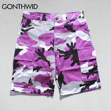 Multi Color Camouflage Cargo Shorts Summer Men Casual Loose Baggy Cargo Shorts Hip Hop Fashion Shorts