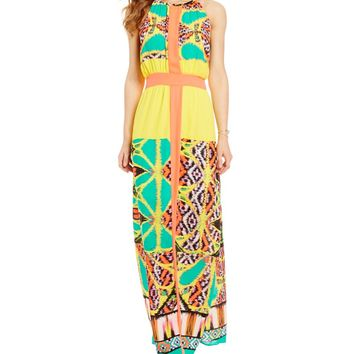 GB Colorblock Maxi Dress | Dillards