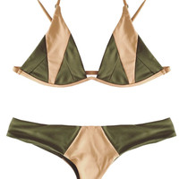 Stone Fox – Isla Top / Byron Bottom Bikini Separates (Olive/Bare)