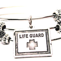 Lifeguard Triple Style Expandable Bangle Bracelet