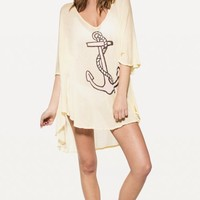 BABY ANCHOR TAHITI TUNIC at Wildfox Couture in  SUNSHINE