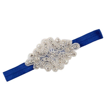 Rhinestone Diamond Shape Glam Headband