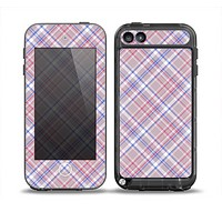 The Pink and Blue Layered Plaid Pattern V4 Skin for the iPod Touch 5th Generation frē LifeProof Case