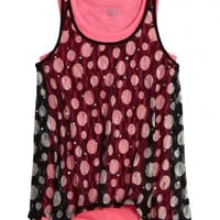 Lace Dot 2fer Tank | Girls Pop Riot New Arrivals | Shop Justice