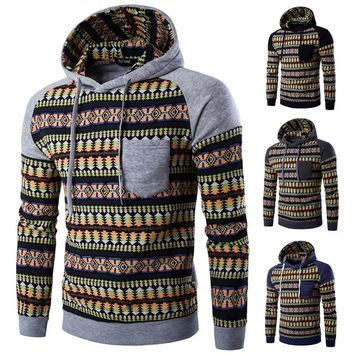 Aztec Tribal Print Design Pullover Hoodies