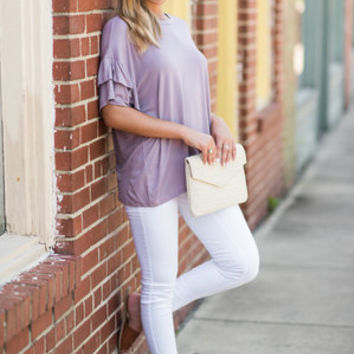 One Step Closer Top, Dusty Lavender