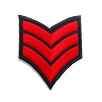 Red Rank Badge Emblem New Iron On Patch Embroidered Applique Patch Size 6.9cm.x8.2cm.
