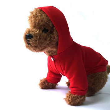Red Dog Hooded Sweater