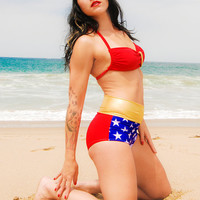 Wonder Woman Swimsuit-By Meshalo