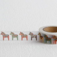 Swedish Horse Washi Tape, Swedish Dala Horse Paper Tape, 15mm