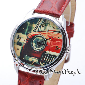Retro Car Watch - Сlassical Womens and Mens Wrist Watch - Free Shipping Worldwide