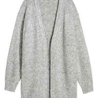 Fine-knit cardigan - Light grey - Ladies | H&M GB