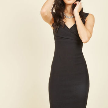 Lady Love Song Sheath Dress in Black | Mod Retro Vintage Dresses | ModCloth.com
