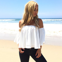 Sea La Vie Off Shoulder Blouse In White