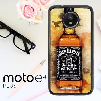 Jack Daniels Drinks W4917 Motorola Moto E4 Plus Case
