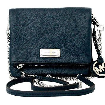 DCCKUG3 Michael Kors Corinne Extra Small Leather Crossbody Bag Purse Handbag (Navy)