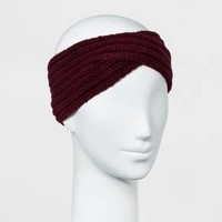 Women's Twisted Knit Headband - A New Day™ Maroon
