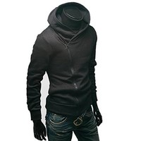 Men's Oblique Zipper Jacket Cosplay Costumes Hoodie II Coat