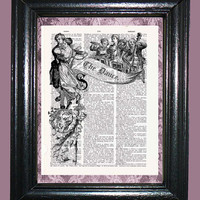 The Dance with an Orchestra Art - Vintage Dictionary Book Page Art Upcycled Page Art