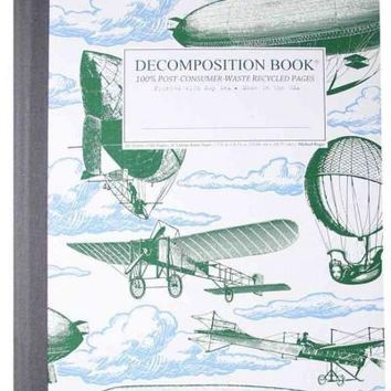 Airships Decomposition Book: College-Ruled Composition Notebook With 100% Post-Consumer-Waste Recycled Pages