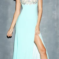 Night Moves by Allure 2014 Prom Dresses - Water Stretch Jersey & Jeweled Netting Prom Dress