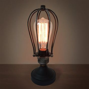 Globe 1 Light Cage Table Lamp