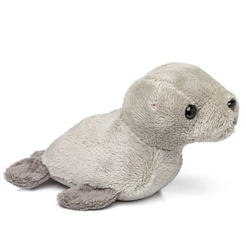 "Single Harbor Seal Mini 4"" Small Stuffed Animal, Ocean Animal Toy, Sea Party Favor for Kids"