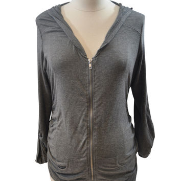Gray Long Sleeve Hoodie by A Pea In The Pod